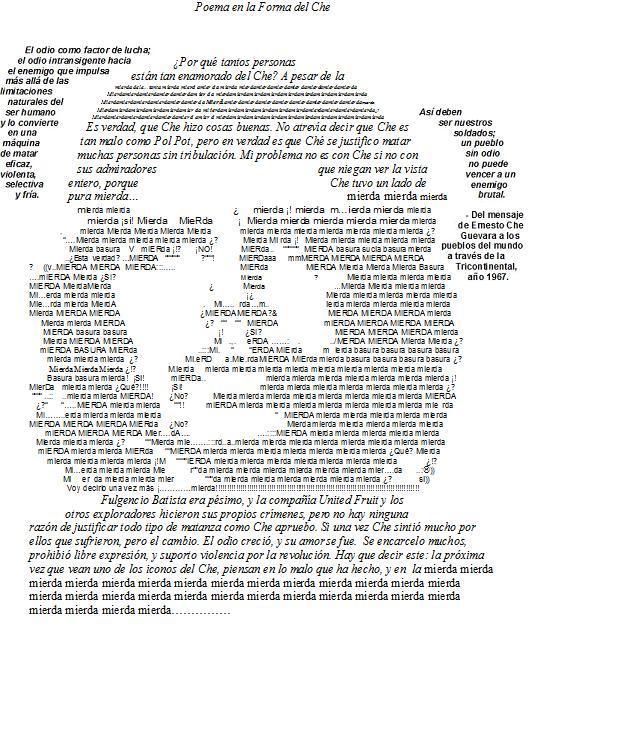 Poema en la Forma del Che