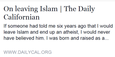 On Leaving Islam II